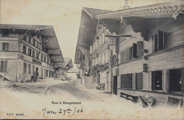 A street of Rougemont. Saugy was a postman in this Swiss towm