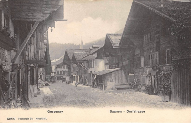 The town of Saanen, birthplace of Johann-Jakob Hauswirth
